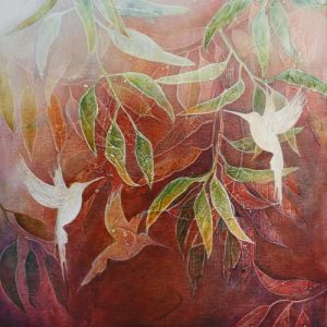 Ascent - a painting by Malini Parker
